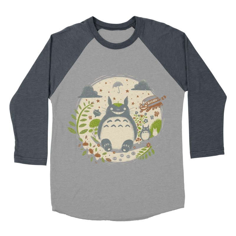 Magical Forest Men's Baseball Triblend T-Shirt by Paula García's Artist Shop