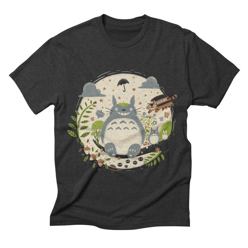 Magical Forest Men's Triblend T-shirt by Paula García's Artist Shop
