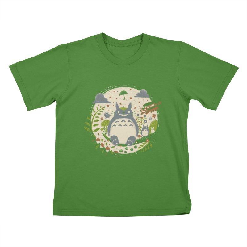Magical Forest Kids T-shirt by Paula García's Artist Shop