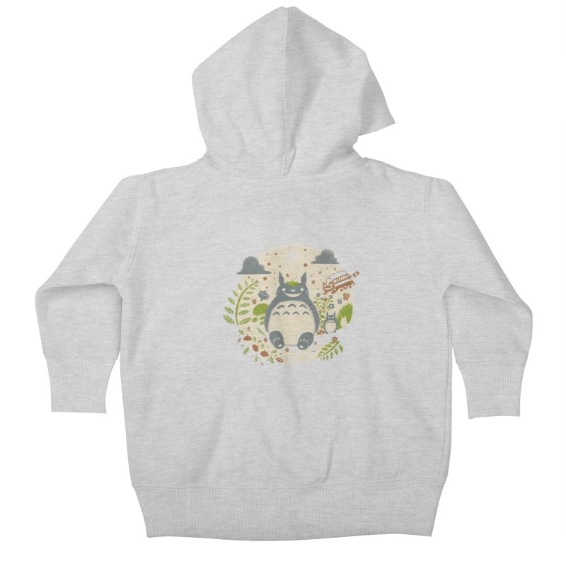 Magical Forest Kids Baby Zip-Up Hoody by Paula García's Artist Shop