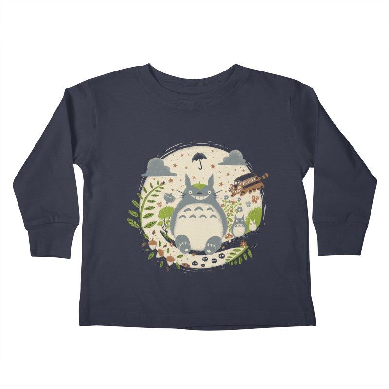 Magical Forest Kids Toddler Longsleeve T-Shirt by Paula García's Artist Shop