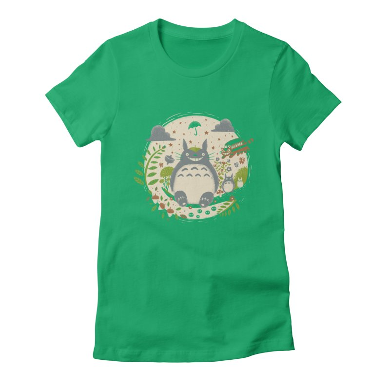 Magical Forest Women's Fitted T-Shirt by Paula García's Artist Shop