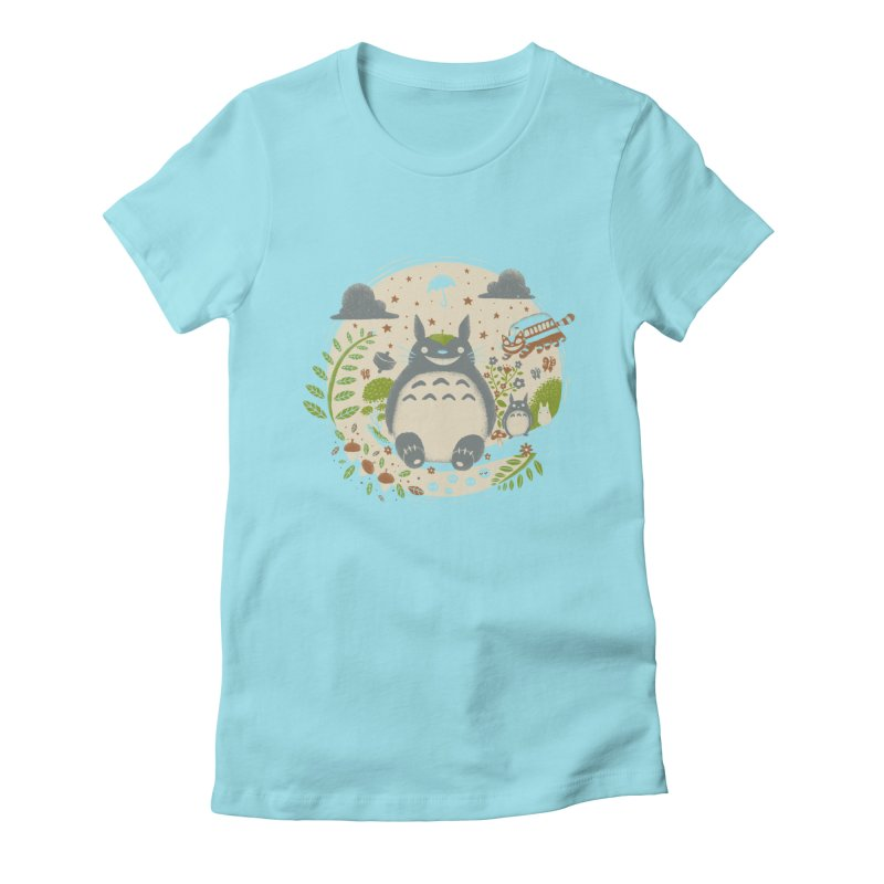 Magical Forest Women's Fitted T-Shirt by Paula García's Artist Shop