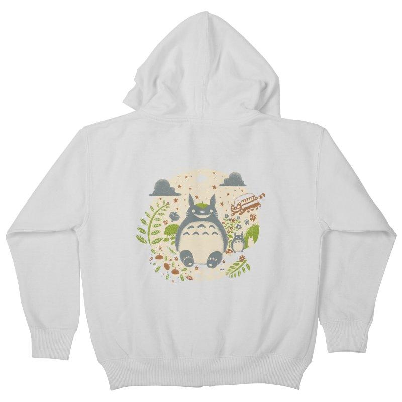 Magical Forest Kids Zip-Up Hoody by Paula García's Artist Shop