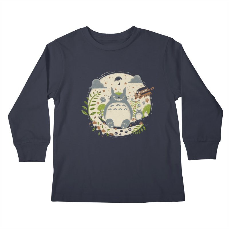 Magical Forest Kids Longsleeve T-Shirt by Paula García's Artist Shop