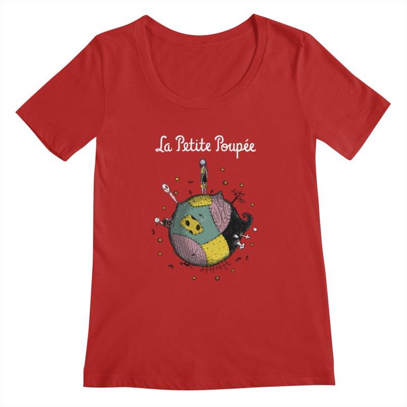 La Petite Poupée Women's Scoopneck by Paula García's Artist Shop