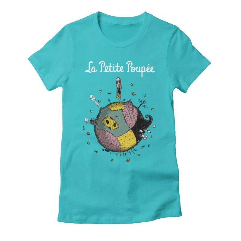 La Petite Poupée Women's Fitted T-Shirt by Paula García's Artist Shop