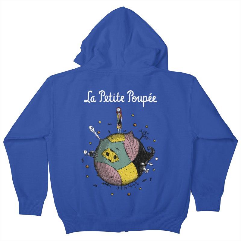La Petite Poupée Kids Zip-Up Hoody by Paula García's Artist Shop