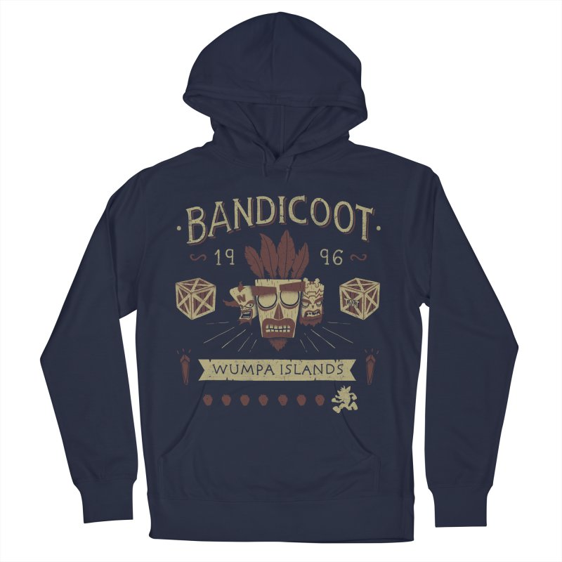 Bandicoot Time Men's Pullover Hoody by Paula García's Artist Shop