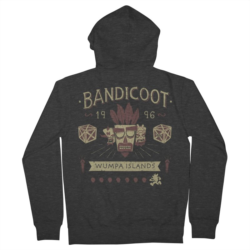 Bandicoot Time Women's Zip-Up Hoody by Paula García's Artist Shop