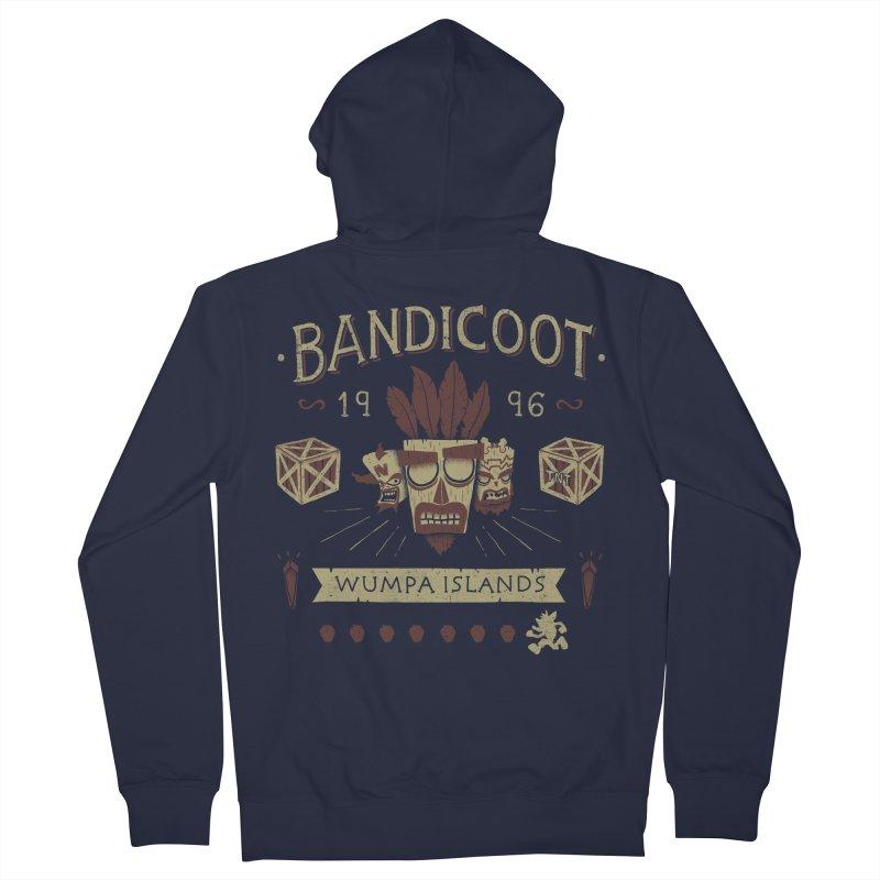 Bandicoot Time Men's Zip-Up Hoody by Paula García's Artist Shop