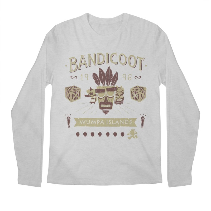 Bandicoot Time Men's Longsleeve T-Shirt by Paula García's Artist Shop