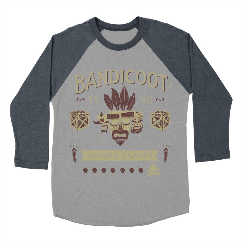 Bandicoot Time Men's Baseball Triblend T-Shirt by Paula García's Artist Shop