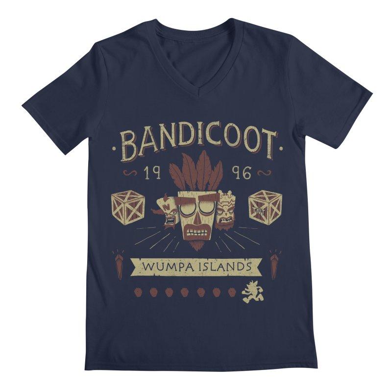 Bandicoot Time Men's V-Neck by Paula García's Artist Shop