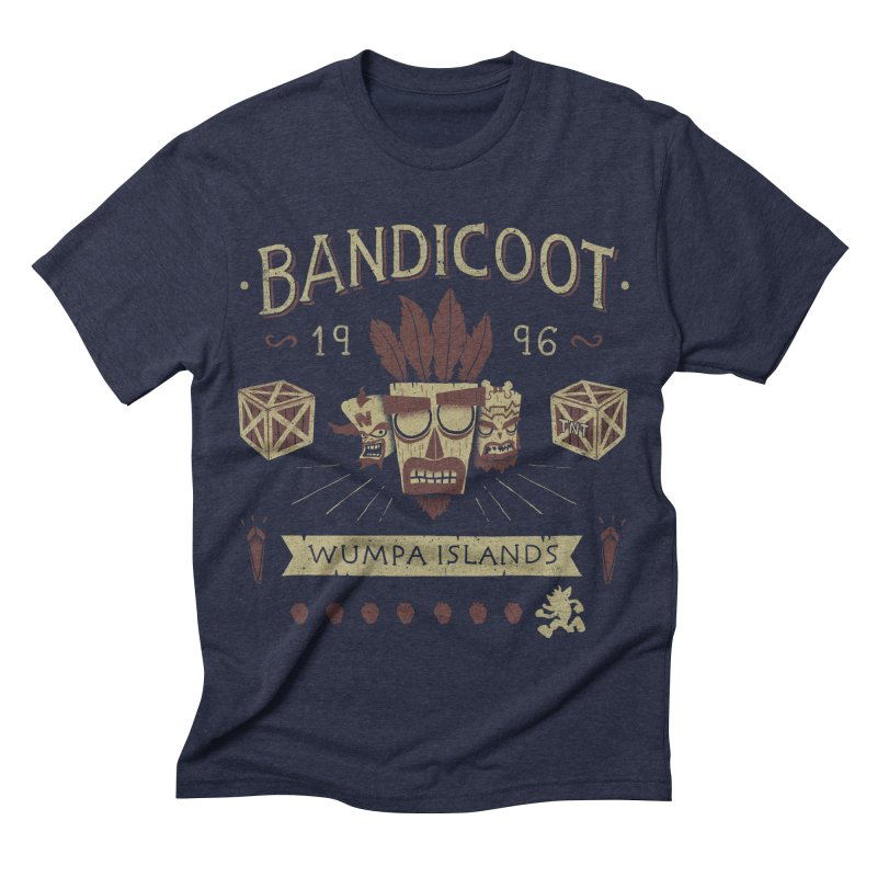Bandicoot Time Men's Triblend T-shirt by Paula García's Artist Shop