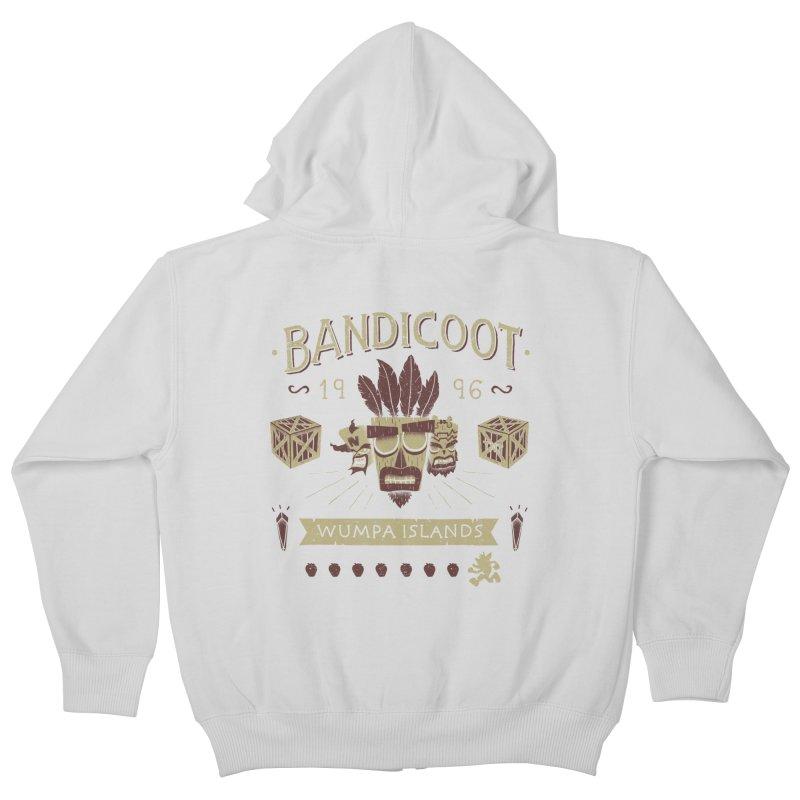 Bandicoot Time Kids Zip-Up Hoody by Paula García's Artist Shop