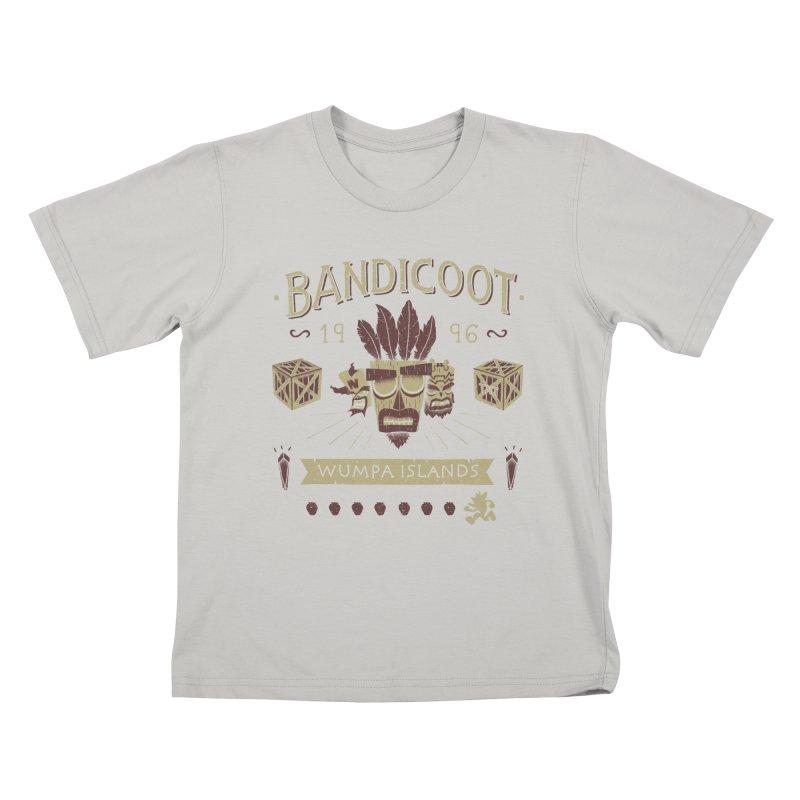 Bandicoot Time Kids T-Shirt by Paula García's Artist Shop