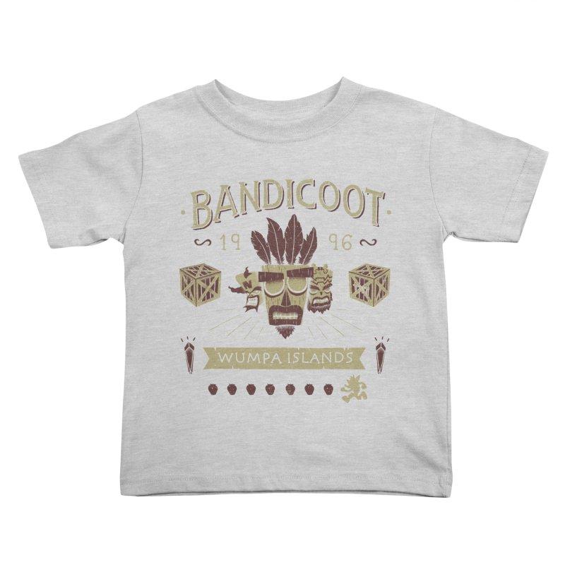 Bandicoot Time Kids Toddler T-Shirt by Paula García's Artist Shop