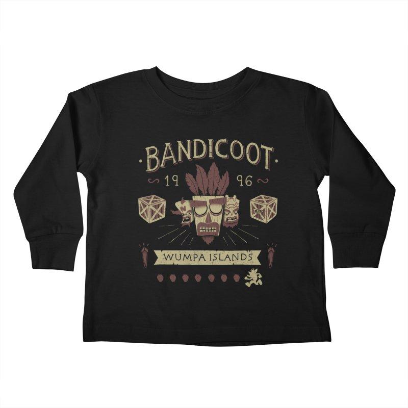 Bandicoot Time Kids Toddler Longsleeve T-Shirt by Paula García's Artist Shop