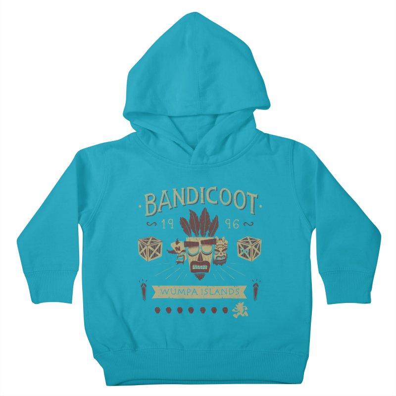 Bandicoot Time Kids Toddler Pullover Hoody by Paula García's Artist Shop