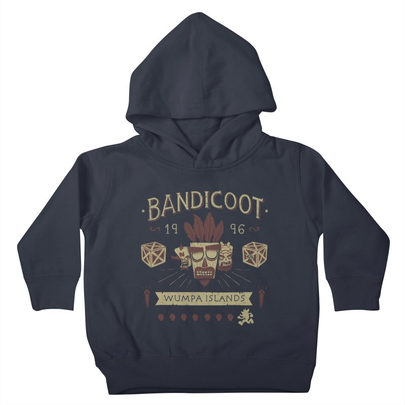 Bandicoot Time Kids Toddler Pullover Hoody by Paula García's Artist Shop