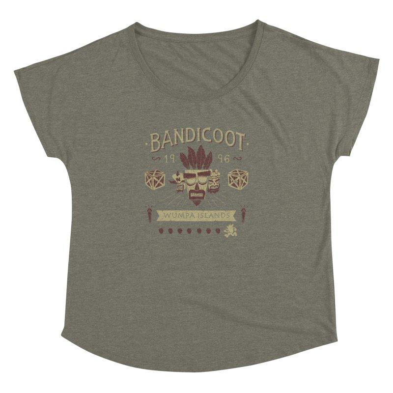 Bandicoot Time Women's Dolman by Paula García's Artist Shop