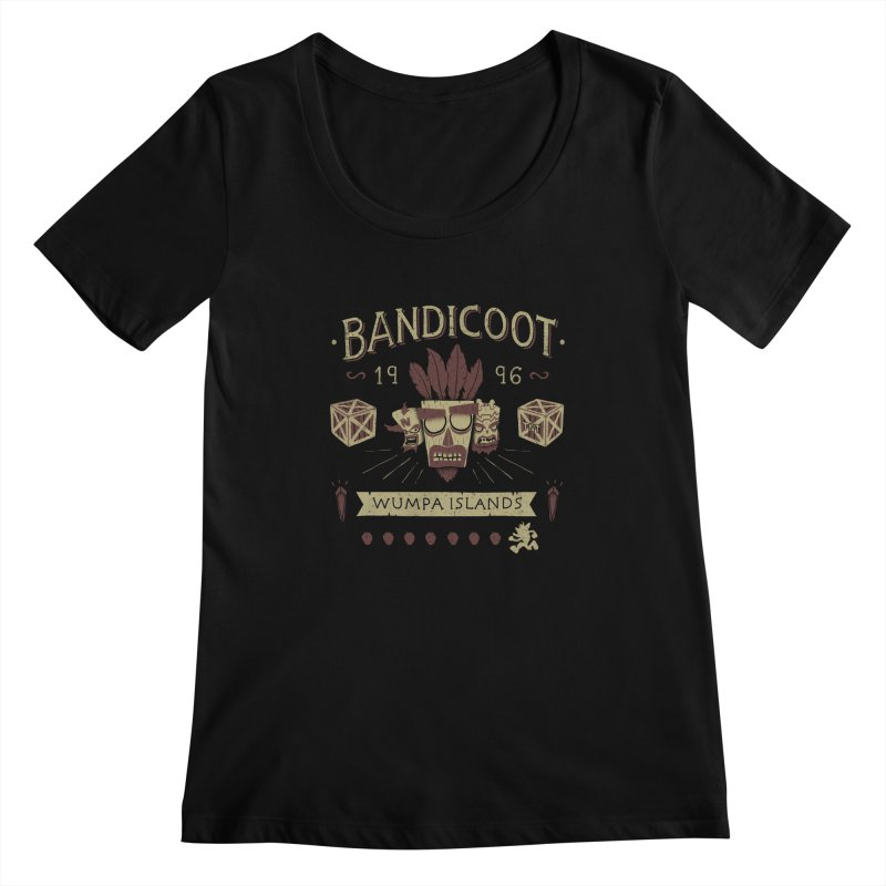 Bandicoot Time Women's Scoopneck by Paula García's Artist Shop