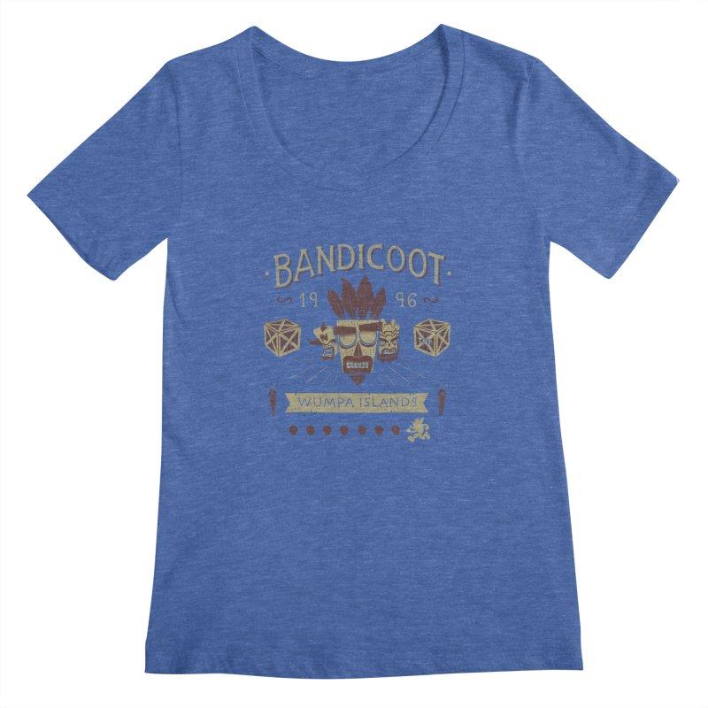 Bandicoot Time Women's Scoopneck by Paula García's Artist Shop