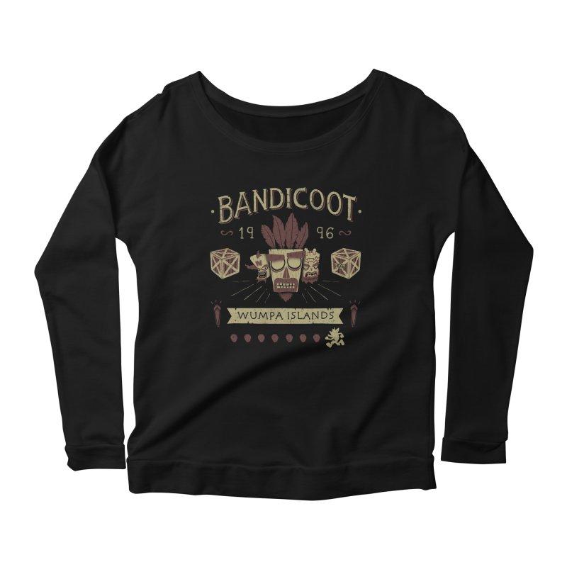 Bandicoot Time Women's Longsleeve Scoopneck  by Paula García's Artist Shop