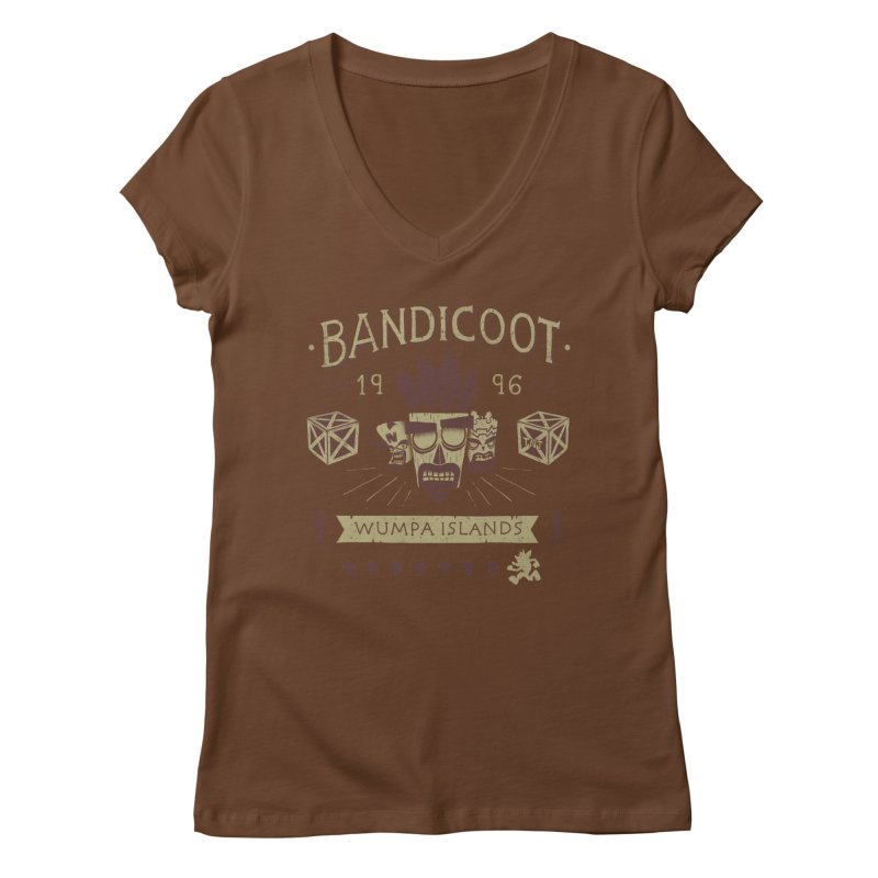 Bandicoot Time Women's V-Neck by Paula García's Artist Shop