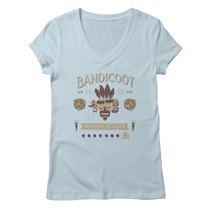 Bandicoot Time Women's V-Neck by Paula García's Artist Shop