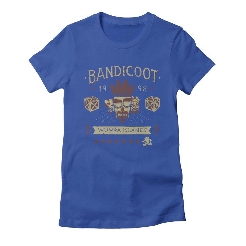 Bandicoot Time Women's Fitted T-Shirt by Paula García's Artist Shop