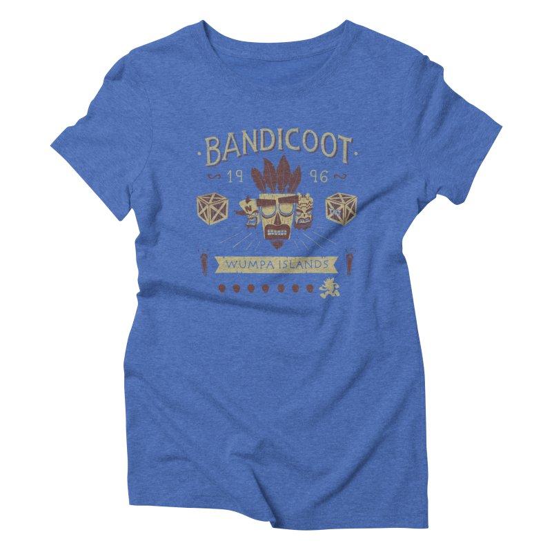 Bandicoot Time Women's Triblend T-Shirt by Paula García's Artist Shop