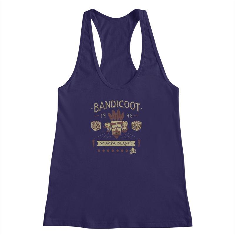 Bandicoot Time Women's Racerback Tank by Paula García's Artist Shop