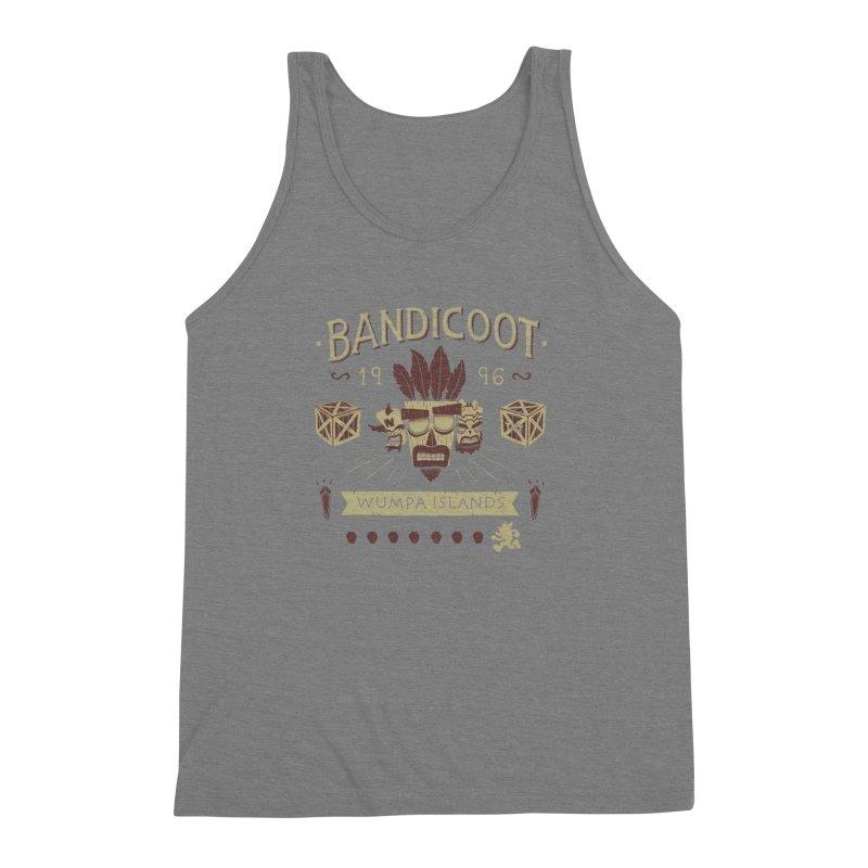 Bandicoot Time Men's Triblend Tank by Paula García's Artist Shop