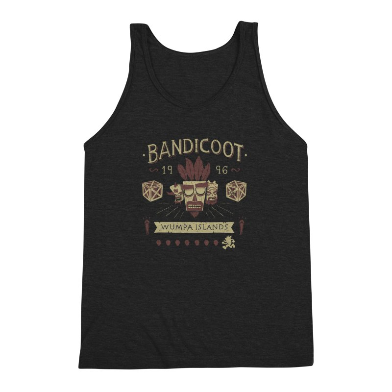 Bandicoot Time Men's Triblend Tank by Paula García's Artist Shop