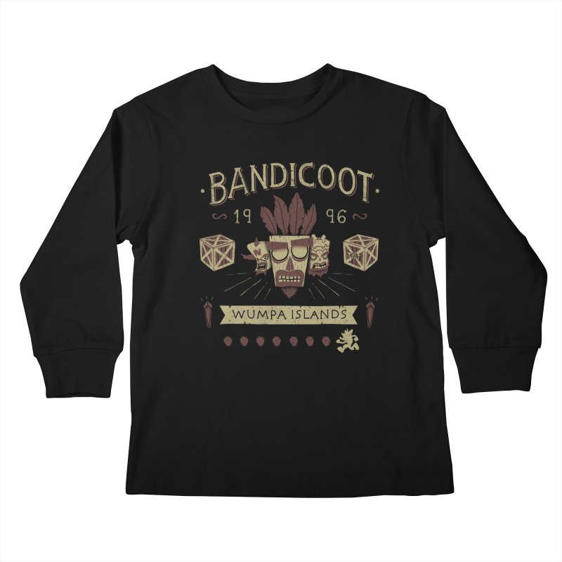 Bandicoot Time Kids Longsleeve T-Shirt by Paula García's Artist Shop