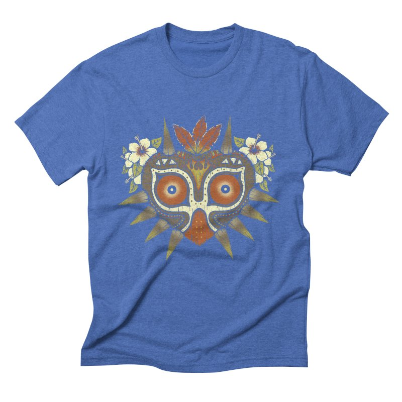 Tiki Majora Men's Triblend T-Shirt by Paula García's Artist Shop