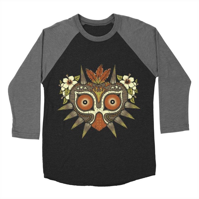 Tiki Majora Women's Baseball Triblend T-Shirt by Paula García's Artist Shop