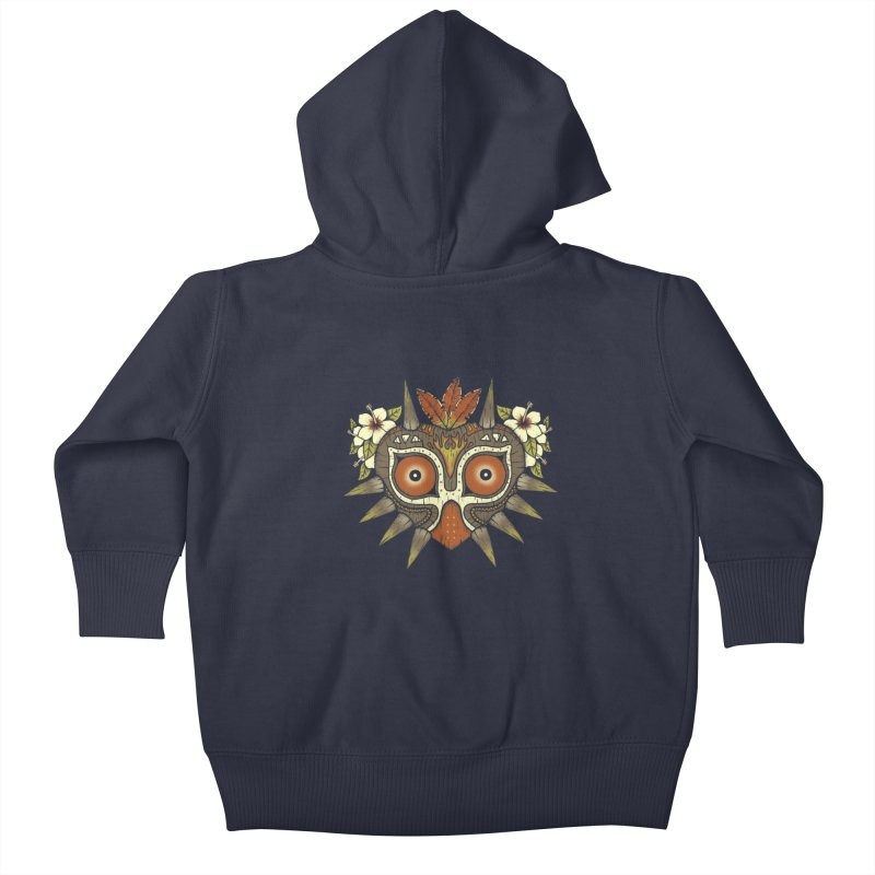 Tiki Majora Kids Baby Zip-Up Hoody by Paula García's Artist Shop