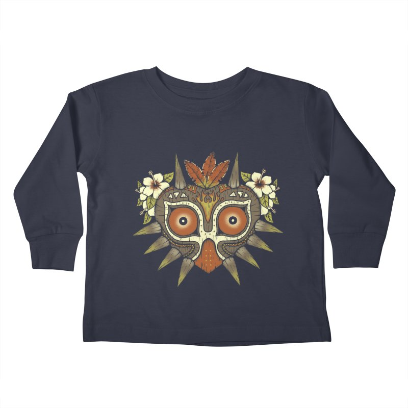 Tiki Majora Kids Toddler Longsleeve T-Shirt by Paula García's Artist Shop