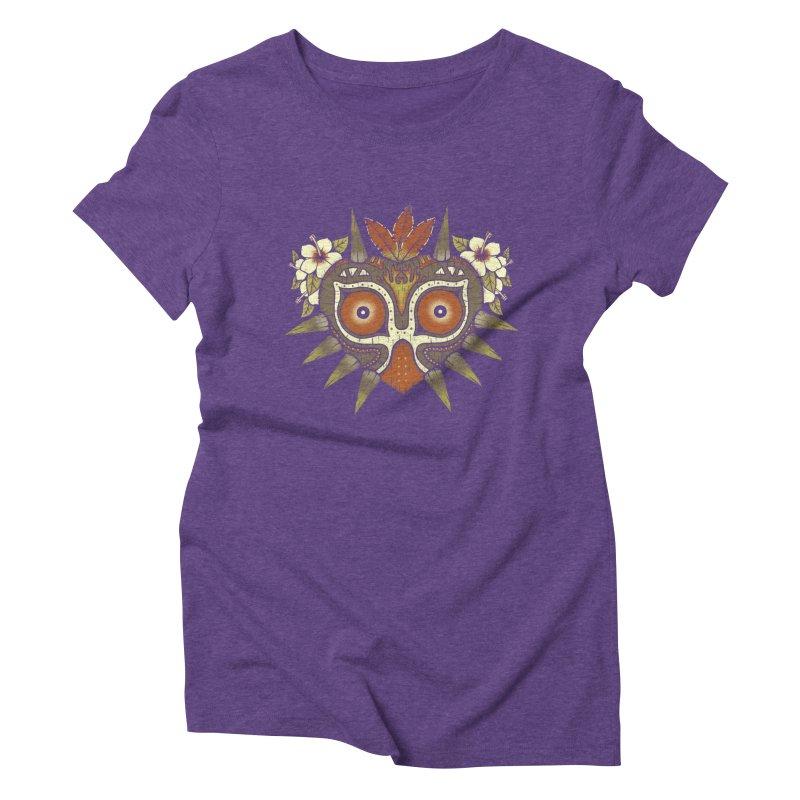 Tiki Majora Women's Triblend T-shirt by Paula García's Artist Shop