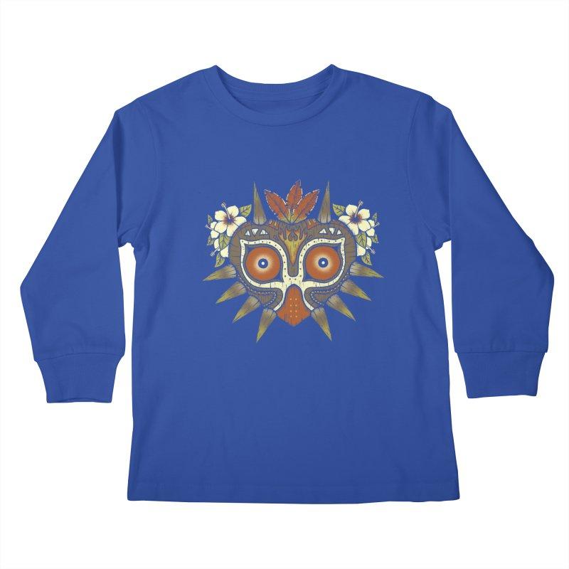 Tiki Majora Kids Longsleeve T-Shirt by Paula García's Artist Shop