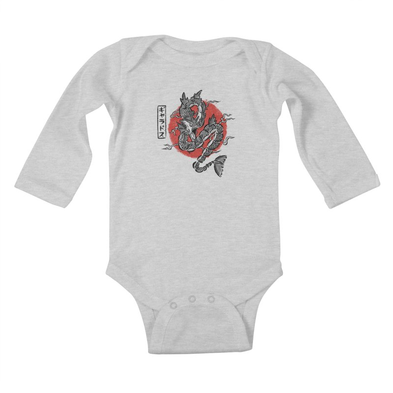 Ryu no inku Kids Baby Longsleeve Bodysuit by Paula García's Artist Shop