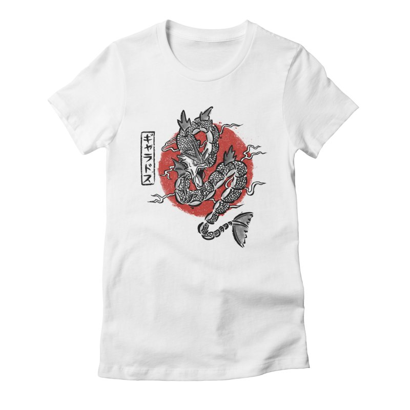 Ryu no inku Women's Fitted T-Shirt by Paula García's Artist Shop