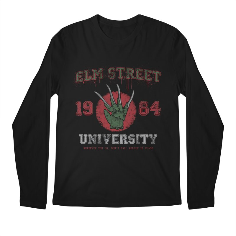 Elm St University Men's Longsleeve T-Shirt by Paula García's Artist Shop