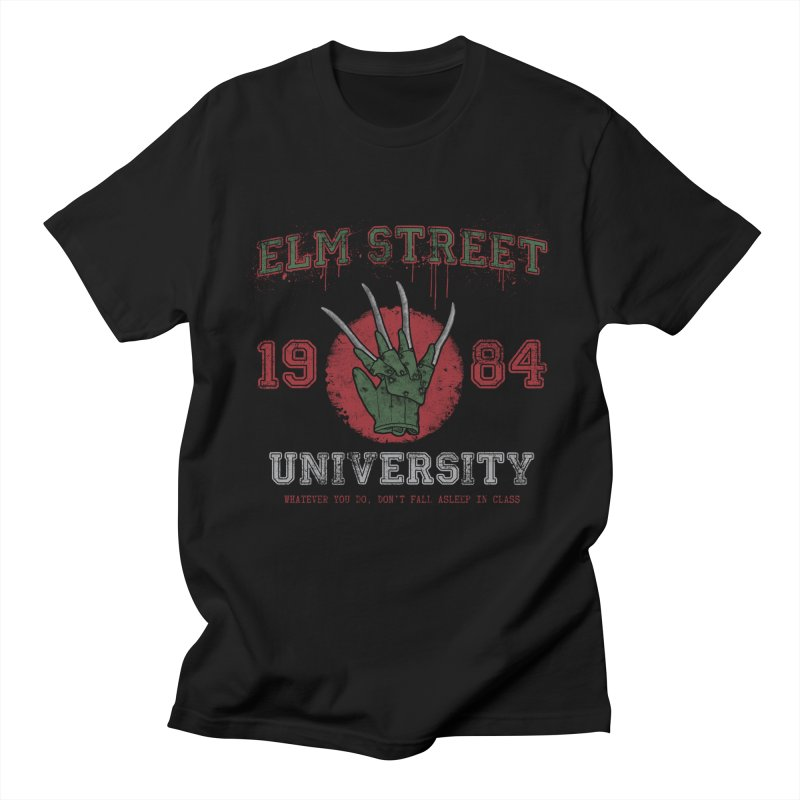Elm St University Men's T-shirt by Paula García's Artist Shop
