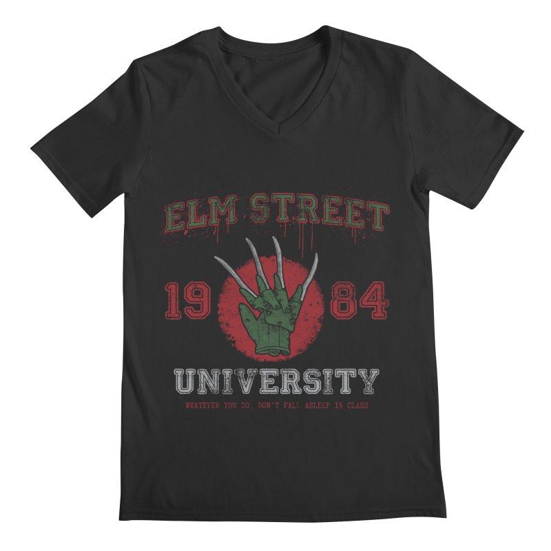 Elm St University Men's V-Neck by Paula García's Artist Shop