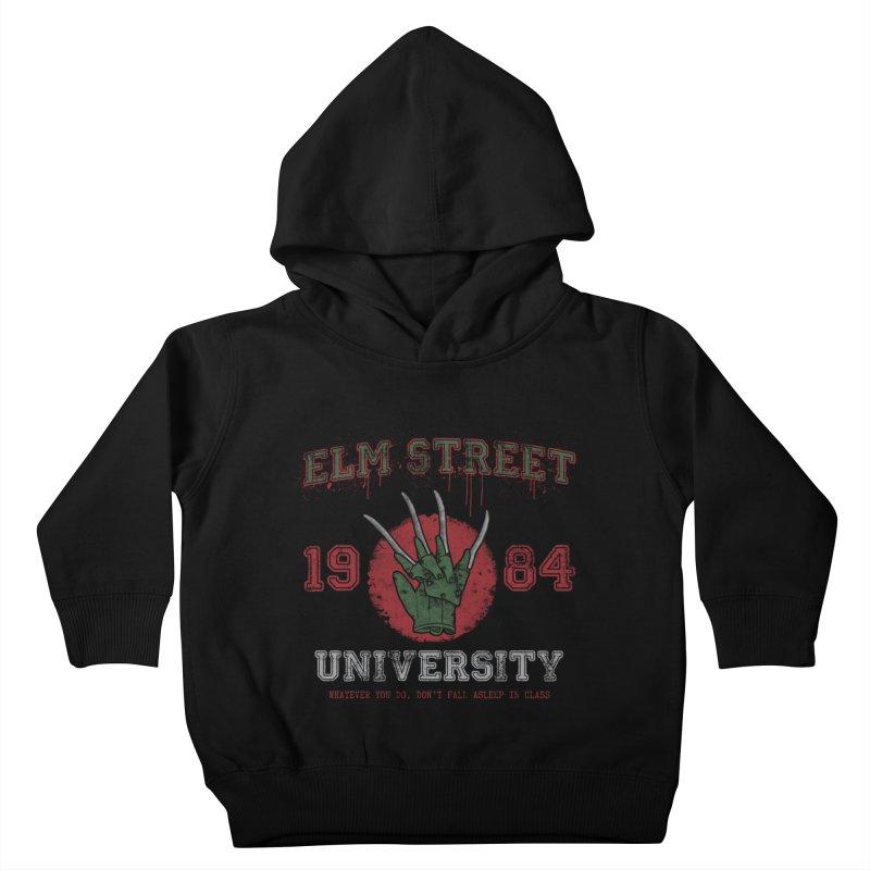 Elm St University Kids Toddler Pullover Hoody by Paula García's Artist Shop
