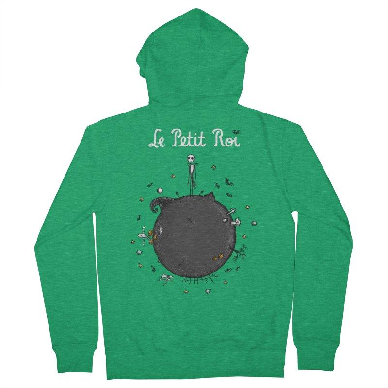 Le Petit Roi Men's Zip-Up Hoody by Paula García's Artist Shop
